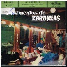 Discos de vinilo: FRAGMENTOS DE ZARZUELAS SELECCIÓN 25 - EP 1959. Lote 222336407