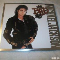 Discos de vinilo: MICHAEL JACKSON - BAD 25 ANNIVERSARIO ..3 LP´S - TRIFOLD - 2012 - NUEVO ENCARTES CON LETRAS - NUEVO. Lote 222336672