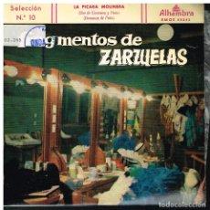 Discos de vinilo: FRAGMENTOS DE ZARZUELAS SELECCIÓN 10 - EP 1959. Lote 222336943