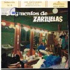 Discos de vinilo: FRAGMENTOS DE ZARZUELAS SELECCIÓN 9 - EP 1959. Lote 222337015