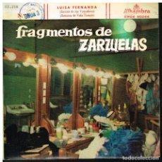 Discos de vinilo: FRAGMENTOS DE ZARZUELAS SELECCIÓN 3 - EP 1959. Lote 222337492