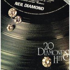 Discos de vinilo: NEIL DIAMOND - 20 DIAMONDS HITS - LP 1994. Lote 222344376