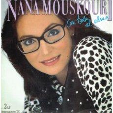 Discos de vinilo: NANA MOUSKOURI - CON TODA EL ALMA - DOBLE LP 1986. Lote 222344635