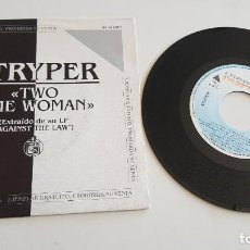 Discos de vinilo: STRYPER SINGLE TWO TIME WOMAN (AMBAS CARAS). Lote 222344692