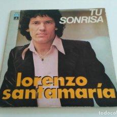 Discos de vinilo: LORENZO SANTAMARÍA - TU SONRISA (LP, ALBUM, GAT). Lote 222344751