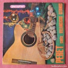 Discos de vinilo: PERET CANTA VILLANCICOS GITANOS - EP 1965 - DISCOPHON. Lote 222345093