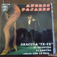 "Discos de vinilo: ANDRES PAJARES ""DRACULA YE-YE"" EP 1968. Lote 222356601"