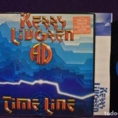 Discos de vinilo: KANSAS, KERRY LIVGREN - TIME LINE 84, RARE, KANSAS GUITAR, ORG EDT USA + INSERT , TODO IMPECABLE. Lote 222357488
