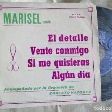 Discos de vinilo: MARISEL EP EL DETALLE NUEVO. Lote 222360087