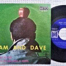 "Discos de vinilo: SAM & DAVE - "" IT FEELS SO NICE + 1 "" SINGLE 7"" MONO SPAIN 1967. Lote 222362490"