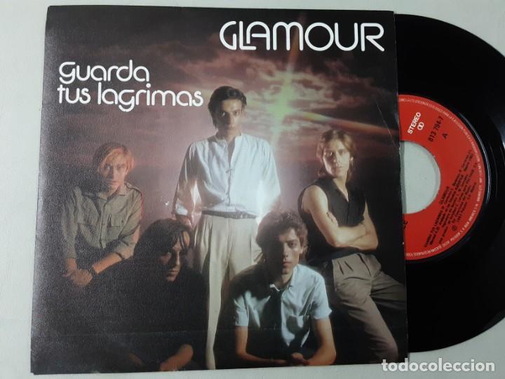 GLAMOUR, GUARDA TUS LÁGRIMAS, HOMBRE DE METAL (Música - Discos - Singles Vinilo - Grupos Españoles de los 70 y 80)