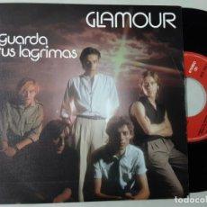 Discos de vinilo: GLAMOUR, GUARDA TUS LÁGRIMAS, HOMBRE DE METAL. Lote 222365561