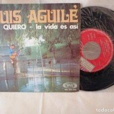 Discos de vinilo: LUIS AGUILE SINGLE TE QUIERO NUEVO A ESTRENAR. Lote 222371881