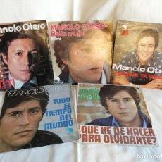 Discos de vinilo: MANOLO OTERO LOTE 5 SINGLES CON SUS EXITOS BUEN TADO DE USO VER DETALLES EN FOTO Y MAS INFORMACION. Lote 222374281