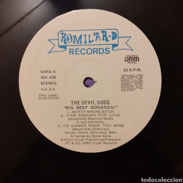 Discos de vinilo: The Devildogs. Big Beef Bonanza!. Romilar-D 1990 - Foto 7 - 222376301