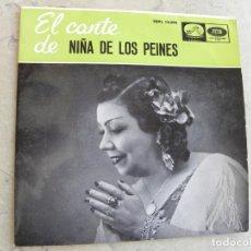 Discos de vinilo: NIÑA DE LOS PEINES -EP 1959 (SOLO FUNDA) -PEDIDO MINIMO DE 3 EUROS. Lote 222376782