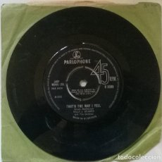 Discos de vinilo: BILLY J. KRAMER. THAT'S THE WAY I FEEL/ TRAINS AND BOATS AND PLANES. PARLOPHONE, UK 1965 SINGLE. Lote 222395358