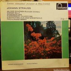 Discos de vinilo: JOHANN STRAUSS. Lote 222395377