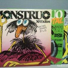Disques de vinyle: LOTE 3 DISCOS LP COLECCIÓN MONSTRUO. Lote 222406363