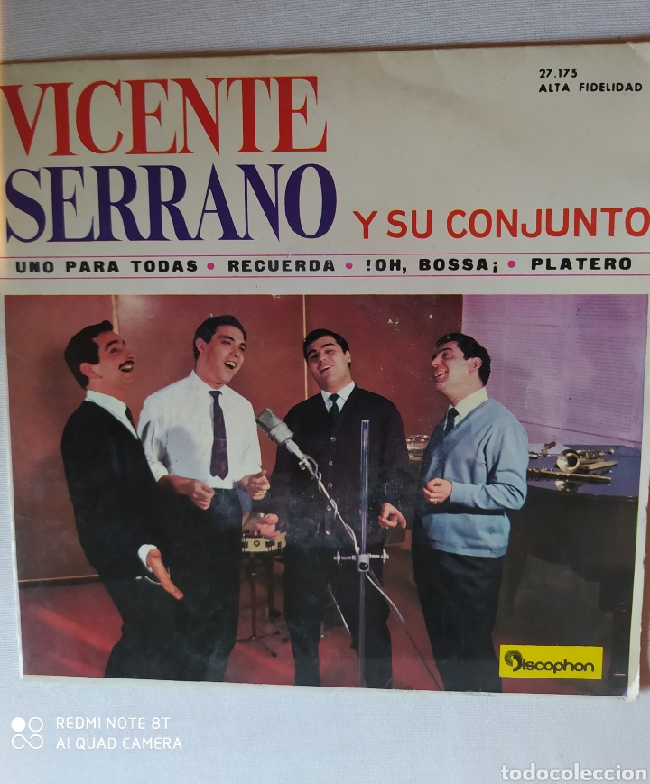 VICENTE SERRANO Y SU CONJUNTO/UNO PARA TODAS/RECUERDA/!! OH BOSSA+1.EP1963.DISCOPHON (Música - Discos de Vinilo - EPs - Solistas Españoles de los 50 y 60)