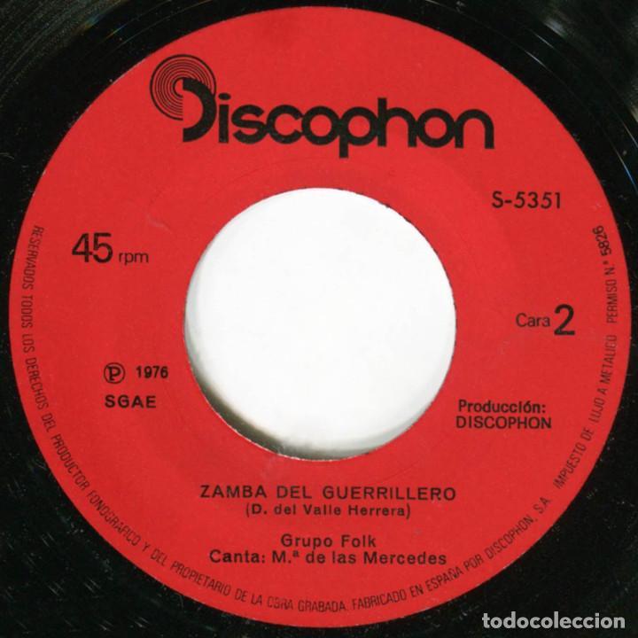 Discos de vinilo: Grupo Folk – Hasta Siempre Comandante (Che Guevara) - Sg Spain 1976 - Discophon S-5351 - Foto 4 - 222410841