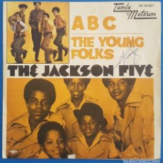 Discos de vinilo: SINGLE / THE JACKSON FIVE / A B C - THE YOUNG FOLKS / TAMLA MOTOWN M 5067 / 1970. Lote 222411857