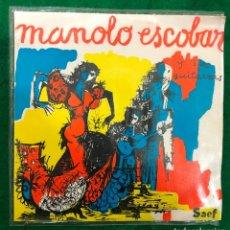 Discos de vinilo: MANOLO ESCOBAR Y SUS GUITARRAS / EL MISTERIO DE LAS FLORES , NO ME FALTA NA , FUE LA NOCHE DE TUS ... Lote 222412973