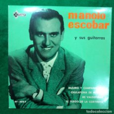 Discos de vinilo: MANOLO ESCOBAR Y SUS GUITARRAS : MULERO Y CAMPANILLERO/CULPALE DE MADRID +2 EP DE 1961 RF-4631. Lote 222413480