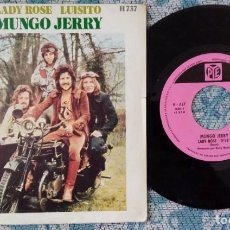 Discos de vinilo: SINGLE MUNGO JERRY - LADY ROSE - ¡UNICO ENVIO A FINAL DE MES!. Lote 222414643