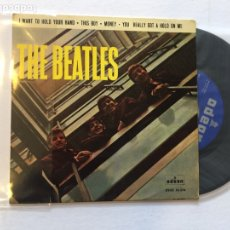 Discos de vinilo: THE BEATLES. I WANT TO HOLD YOUR HAND. THIS BOY, MONEY. ... DSOE 16.576 SPAIN 1964 EP. Lote 222418931