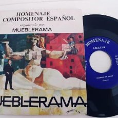 Discos de vinilo: AMELIA-SINGLE HOMENAJE MUEBLERAMA-HOMENAJE AL COMPOSITOR ESPAÑOL. Lote 222425295