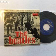 Discos de vinilo: THE BEATLES .BOYS; CHAINS, LOVE ME DO DSOE 16.576, SPAIN 1964. Lote 222426695