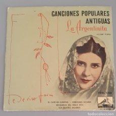 Discos de vinilo: LA ARGENTINITA / CANCIONES POPULARES ANTIGUAS / FEDERICO GARCIA LORCA ACOMP AL PIANO. 1957. Lote 222427025