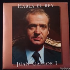 Discos de vinilo: LP DOBLE HABLA EL REY LEER DESCRIPCION. Lote 222428490