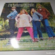 Discos de vinil: LP - THE MAMAS & THE PAPAS – 16 OF THEIR GREATEST HITS - MCA 10401 ( VG+ / VG+) EURO AÑOS 80. Lote 222433908