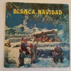 Discos de vinilo: JUANITO SEGARRA + CORO DE NIÑOS Y ORQUESTA - BLANCA NAVIDAD - RARO EP DEL 1958 VINILO COLOR ROJO. Lote 222438956