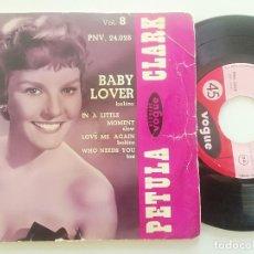 Discos de vinilo: PETULA CLARK - BABY LOVER + 3 - EP UK VOGUE 1958. Lote 222440468