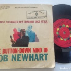 Discos de vinilo: BOB NEWHART - THE BUTTON-DOWN MIND OF...-EP UK WARNER BROSS 1960. Lote 222440985