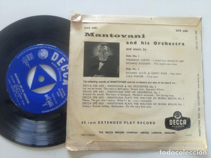 Discos de vinilo: MANOTOVANI - And Music By...- EP UK DECCA 1958 - Foto 2 - 222441156