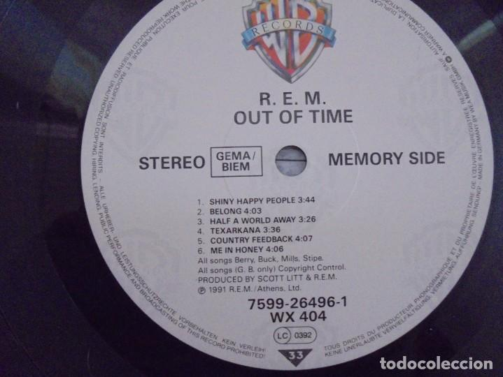 Discos de vinilo: R.E.M. OUT OF TIME. LP VINILO. WARNER BROS. PRODUCED BY SCOTT LITT. 1991. - Foto 9 - 222441801