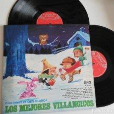 Discos de vinilo: ANTIGUO VINILO / OLD VINYL: LOS MEJORES VILLANCICOS-LOS MEJORES CUENTOS (DOBLE LP 1960). Lote 222444963