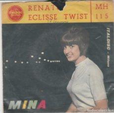 Discos de vinilo: 45 GIRI MINA ECLISSE TWIST /RENATO COVER ÙANCA UN PEZZETTINO ITALDISC MILANO ITALY. Lote 222456193