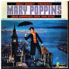 Discos de vinilo: MARY POPPINS - WALT DISNEY - JULIE ANDREWS / DICK VAN DYKE - EP 1965 - VERSIÓN EN INGLÉS. Lote 222456627