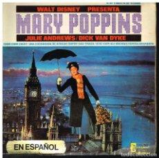 Discos de vinilo: MARY POPPINS - WALT DISNEY - JULIE ANDREWS / DICK VAN DYKE - EP 1966. Lote 222456780