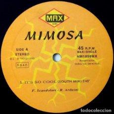 Discos de vinilo: MIMOSA – IT'S SO COOL - 1995. Lote 222458587