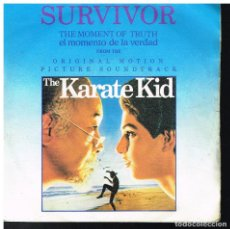 Discos de vinilo: SURVIVOR - THE KARATE KID - THE MOMENT OF TRUTH +1 - SINGLE 1984. Lote 222460645