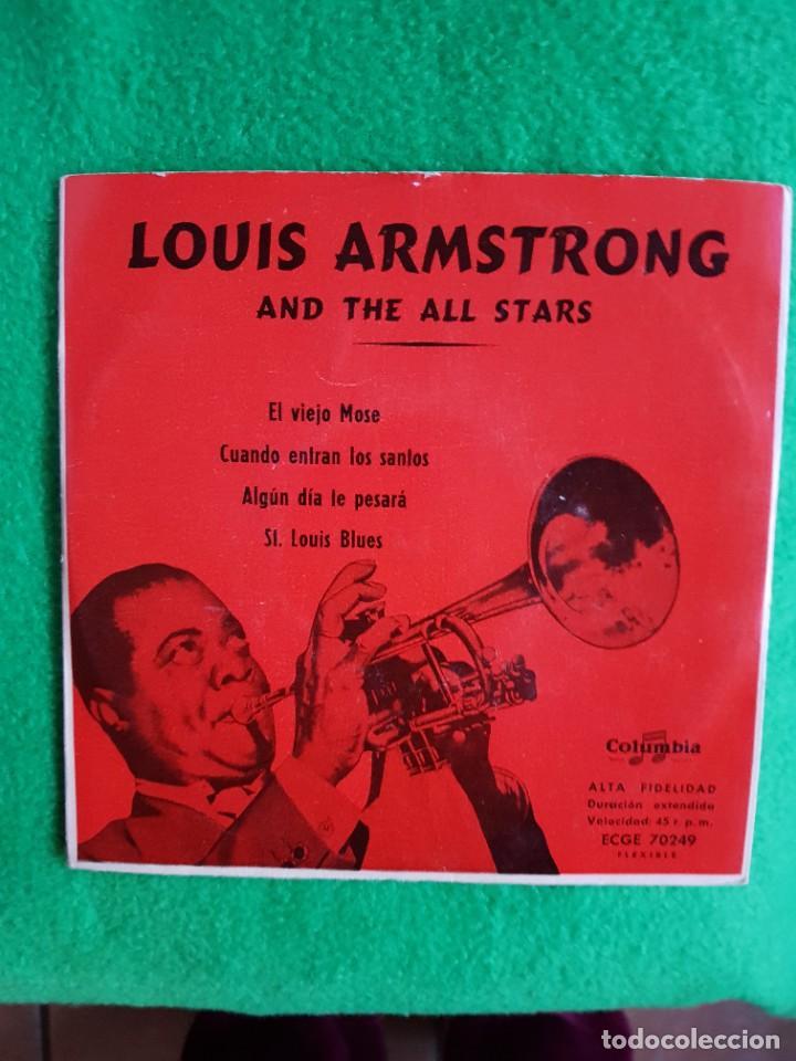 JAZZ LOUIS ARMSTRONG EP COLUMBIA EXCELENTE ESTADO OPORTUNIDAD COLECCIONISTAS (Música - Discos de Vinilo - EPs - Jazz, Jazz-Rock, Blues y R&B)