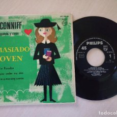 Discos de vinilo: RAY CONNIFF, SU ORQUESTA Y COROS - DEMASIADO JOVEN / STRANGER IN PARADISE + 2 - EP PHILIPS AÑO 1960. Lote 222463343