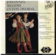 Discos de vinilo: JOHANNES BRAHMS / ANTON DVORAK - EP 1964. Lote 222464917