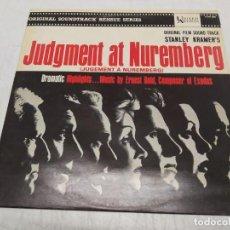 Discos de vinil: ERNEST GOLD - ORIGINAL FILM SOUND TRACK STANLEY KRAMER'S JUDGMENT AT NUREMBERG -VENCEDORES Y VENCIDO. Lote 222465526